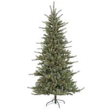 "Colorado 7' 6"" Blue Spruce Artificial Christmas Tree with 650 Dura-Lit Clear Lights with Stand"