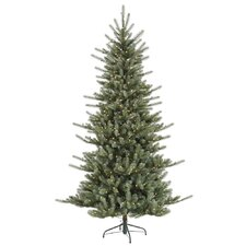 "Colorado 6' 6"" Blue Spruce Artificial Christmas Tree with 480 LED White Lights with Stand"