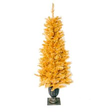 Glitter 6' Gold Cashmere Artificial Christmas Tree with 300 Clear Lights