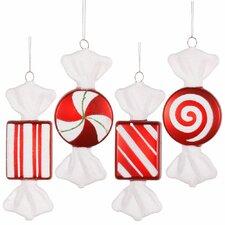 4 Piece Candy Ornament Set