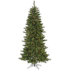 6' Green Newport Mix Pine Artificial Christmas Tree with 250 Multicolored Mini Lights with Stand