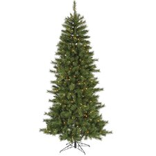 9' Green Newport Mix Pine Artificial Christmas Tree with 650 Clear Mini Lights with Stand