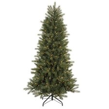 Blue Spruce Instant Shape 7' Green Artificial Christmas Tree with 500 Clear Dura-Lit Mini Lights with Stand