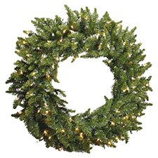Prelit Camdon Wreath with Clear Lights