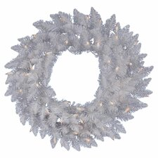 "<strong>Vickerman Co.</strong> Crystal White Spruce 48"" Wreath"