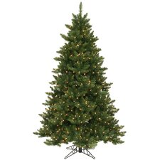 Camdon Fir 5.5' Green Artificial Christmas Tree with 300 LED Warm White Lights with Stand