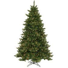 Camdon Fir 6.5' Green Artificial Christmas Tree with 600 LED Warm White Lights with Stand