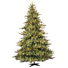 "Mixed Country Pine 7' 6"" Green Artificial Christmas Tree with 800 Clear Lights with Stand"
