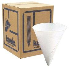 Konie 8.0 Oz Rolled Rim Cone Cup (2500 Pack)