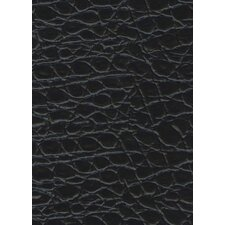 "Rainforest 45-7/8"" x 7-5/8"" Recycled Leather Plank in Alligator Noir"