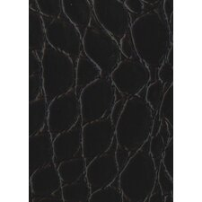 "Rainforest 45-7/8"" x 7-5/8"" Recycled Leather Plank in Jumbo Croc Merlot"