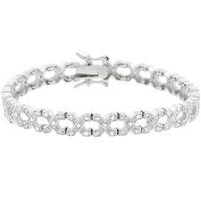 Sterling Silver Clear Cubic Zirconia Tennis Bracelet