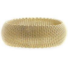 Gold-Tone Thick Woven Bracelet