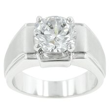 Satin Solitaire Ring