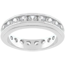 <strong>Kate Bissett</strong> Silver-Tone and Clear Cubic Zirconia Eternity Band