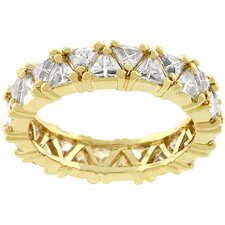 "Trillion Cut Cubic Zirconia ""Fashionista"" Ring"