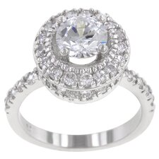 <strong>Kate Bissett</strong> Clear Cubic Zirconia Princess Deidra Ring