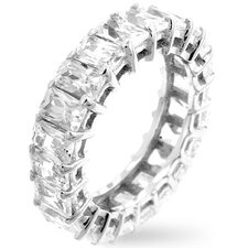 <strong>Kate Bissett</strong> Clear Cubic Zirconia Emerald Cut Eternity Band