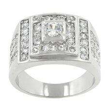 <strong>Kate Bissett</strong> Geometric Clear Cubic Zirconia Fashion Ring