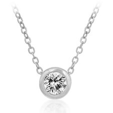 White Gold Rhodium Bonded Fashion Pendant