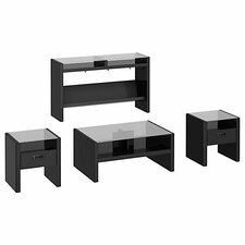 New York Skyline 4 Piece Coffee Table Set