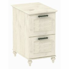 Volcano Dusk 2-Drawer File Cabinet in Driftwood Dreams Antique White Finish