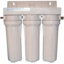 Refillable Triple Housing Filter for Many Contaminants