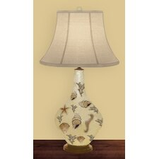 "Morning Light 32"" H Table Lamp with Bell Shade"