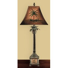 """Burma Palm 36"""" H Table Lamp with Empire Shade"""