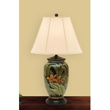 """Palm Leaves 27"""" H Table Lamp with Empire Shade"""