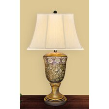 "Egg Shell 32"" H Table Lamp with Bell Shade"