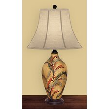 <strong>JB Hirsch Home Decor</strong> Ribbon Feather Table Lamp