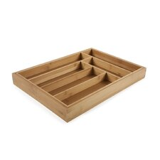 Expandable Flatware Large Tray in Natural