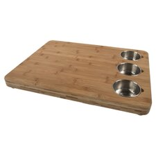 <strong>Core Bamboo</strong> Pro Chef Butchers Chop Block with Prep Bowls in Natural