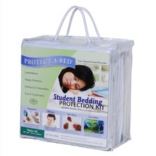"Twin Extra Long 9"" Student Bedding Protection Kit"