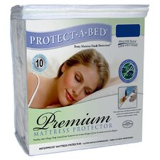 <strong>Protect-A-Bed</strong> Cotton Premium Fitted Sheet Style Mattress Protector
