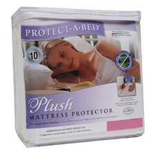 <strong>Protect-A-Bed</strong> Cotton Plush Fitted Sheet Style Mattress Protector