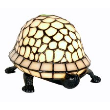 Tiffany 1 Light Shield Tortoise Table Lamp