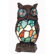 Tiffany 1 Light Owl Table Lamp