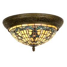 Tiffany 2 Light Flush Light