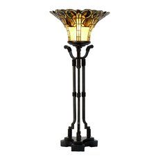 Tiffany 1 Light Uplight Table Lamp