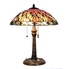 <strong>Arcade</strong> Tiffany 2 Light Dragonfly Table Lamp