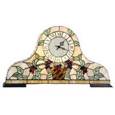Tiffany 2 Light Clock Table Lamp