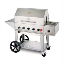 Natural Gas Grill On Cart