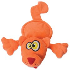 Flattie Orange Cat Dog Toy
