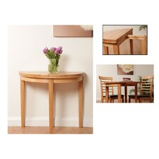 Athens Oak Half Moon Table