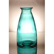 Coloured Glass 30cm Vase in Blue