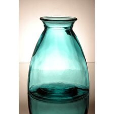 Coloured Glass 20cm Vase in Blue