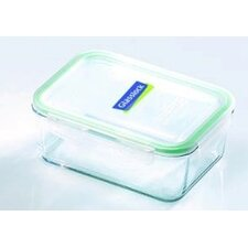 Glasslock 4.63-Cup Rectangular Tempered Glass Container with Sealed Lid