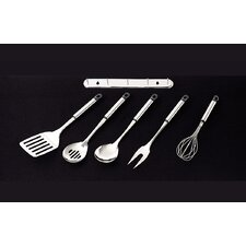 Classicor 5 Piece Utensils Hanging Wall Rack Set
